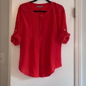 Daniel Rainn: bright coral blouse